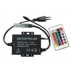 Ecola Контроллер 220V 16x8 1500W 6.6A RGB IP68 с ИК пультом CRS615ESB