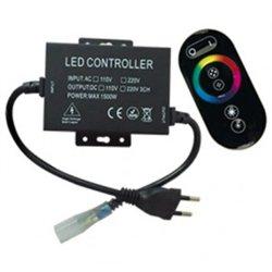 Ecola Контроллер 220V 16x8 1500W 6.6A RGB IP68 с с кольцевым сенсорным черным радиопультом RFB615KSB