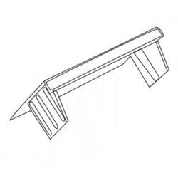T-plast Заглушка 20х10 белая (уп 4шт, цена за ШТУКУ!!!) 50-15-005-003