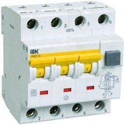 IEK АВДТ 34 4P C25 дифф. автоматический выключатель 30мА MAD22-6-025-C-30