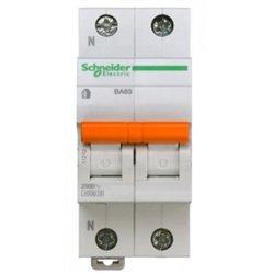 Schneider Domovoy автоматический выкл. ВА63 1P+N 20А 4,5кА х-ка C 11214