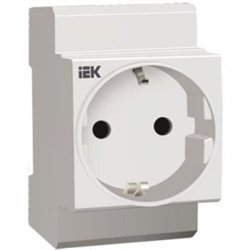 IEK РАр10-3-ОП роз. с заземляющим контактом Shuko DIN-рейку MRD10-16