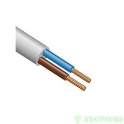 Провод ПВС 2х1 (бухта 5м) ГОСТ(Партнер-Электро гМосква) соединит.белый высок.гибк. дв. из. ПВХ