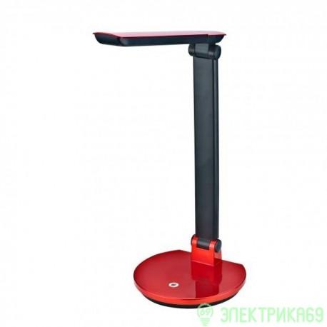 Uniel TLD-512 св-к св/д настольный  6W(550lm) пластик красный, диммер