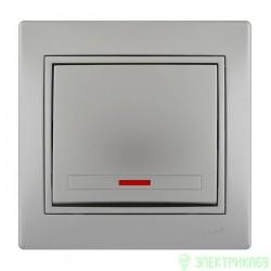 Lezard Мира выкл. СУ 1 кл. (инд.) металлик серый 701-1010-111