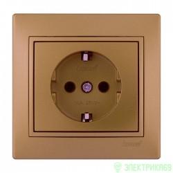 Lezard Мира роз. СУ 1 мест. металлик золото (земля, керамика) 701-1313-122