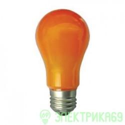 Ecola ЛОН A55 E27 8W 108x55 Оранжевая пласт./алюм. K7CY80ELY