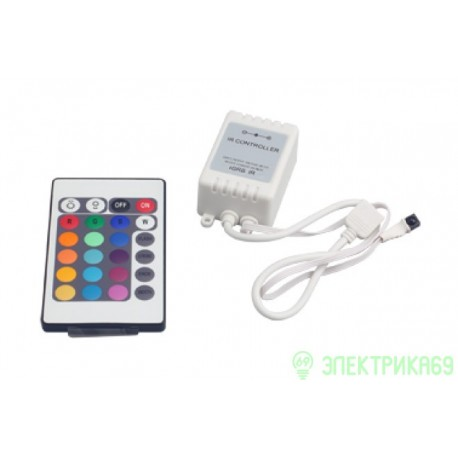 Контроллер для RGB лент, ИК-пульт, 12V/6A, ZC-1000RC Jazzway .3327385