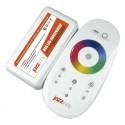 Контроллер для RGB лент, сенсорный-пульт (белый), 12V/18A или 24V/18A PRC-4000RF WH Jazzway .1007957