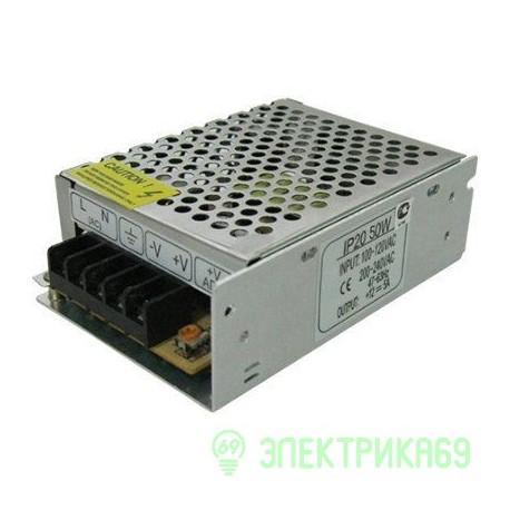 Ecola Блок питания для св/д лент 12V 50W IP20 110х77х37 (интерьерный) B2L050ESB