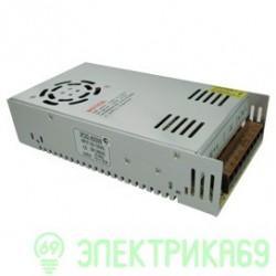 Ecola Блок питания для св/д лент 400W 220V-12V IP20 200х100х50(201х99х50) вентилятор B2L400ESB