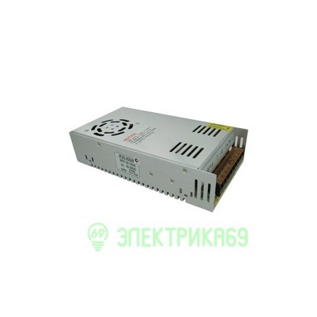 Ecola Блок питания для св/д лент 400W 220V-12V IP20 215х114х51 вентилятор B2L400ESB