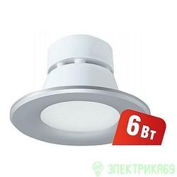 Navigator св-к встр. св/д даунлайт  6W(420lm) 100x70 серебро NDL-P1-6W-840-SL-LED 94834 (+)