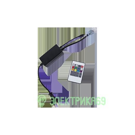 Ecola Контроллер 220V 14x7 1000W 4.5A RGB с ИК пультом CR141KESB