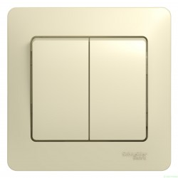 Schneider GLOSSA выкл. СУ 2 кл. беж. (пласт. осн.) GSL000252