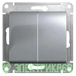Schneider GLOSSA мех. выкл. СУ 2 кл. алюминий (пласт. осн.) GSL000351