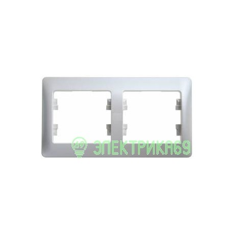 Schneider GLOSSA рамка СУ 2 мест. перламутр (горизонт.) GSL000602