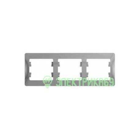 Schneider GLOSSA рамка СУ 3 мест. алюминий (горизонт.) GSL000303