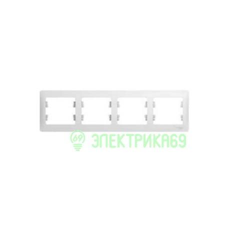 Schneider GLOSSA рамка СУ 4 мест. бел. (горизонт.) GSL000104