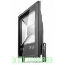 ОНЛАЙТ прожектор св/д 50W(4000lm) SMD 6000K 6K 285x235x62 OFL-50-6K-BL-IP65-LED 71660