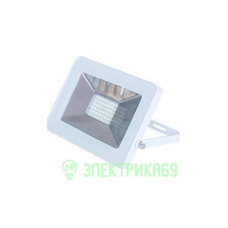 Ecola прожектор св/д 10W 4200 4K 115x80x14 белый IP65 JPWV10ELB