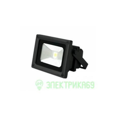 Gauss прожектор светодиодный 10W(670lm) IP65 6500K черный 6K 613100310