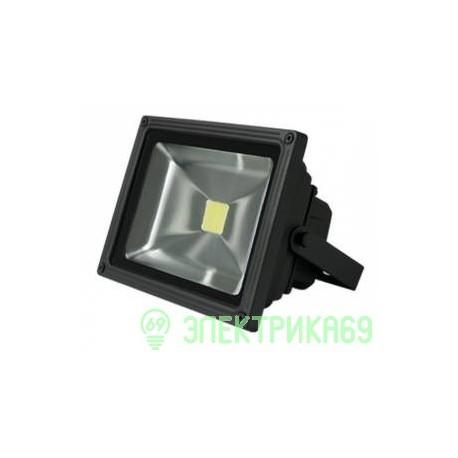 Gauss прожектор светодиодный 30W(2190lm) IP65 6500K черный 6K 613100330