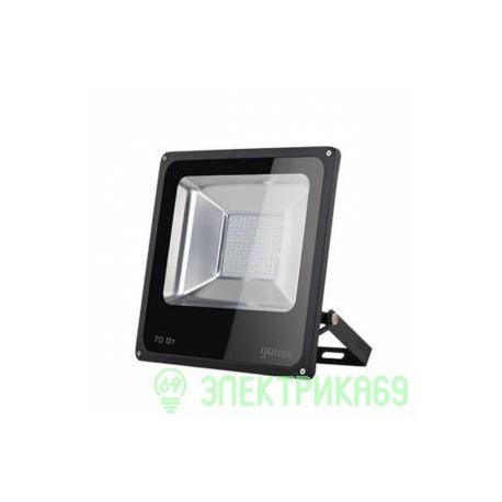 Gauss прожектор светодиодный 70W(5200lm) IP65 6500K черный 6K 613100370