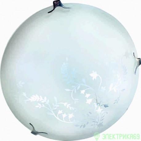 LEEK св-к св/д декоративный 20W(1400lm) 6K плафон стекло весна d300x85 IP20  СЛЛ 024 (старый 557939)