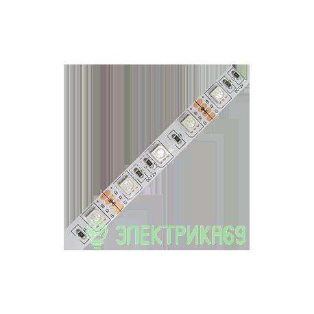 Ecola Лента св/д 12V 7.2W/m 30Led/m IP20 RGB 50м (интер) PRO SMD5050 P2LM07ESD