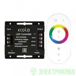 Ecola Контроллер 12V 216W(24V 432W) 18A RGB с кольцевым сенсорным белым радиопультом RFC18WESB