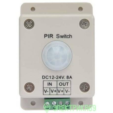 Ecola Контроллер 12V 96W(24V 192W) 8A автомат. выключатель с ИК датчиком движения PIR096ESB