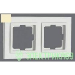Mono DESPINA рамка СУ 2 мест. Крем 102-170000-161