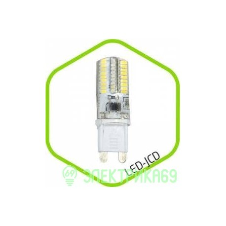 ASD G9 3W 3000К 2K 48x16 пластик standard 3764