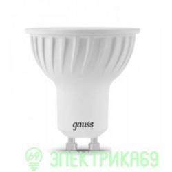 Gauss MR16 GU10 220V 5W(530lm) 4100 4K 54x50 прозрачная, пластик/алюм. 101506205