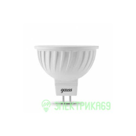 Gauss MR16 GU5.3 220V 7W(600 lm) 2700K 50х45 прозрачная, пластик/алюм. 101505107