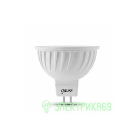 Gauss MR16 GU5.3 220V 7W(630 lm) 4100K 50х45 прозрачная, пластик/алюм. 101505207