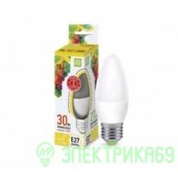 ASD Свеча C37 E27 3.5W (3W) 3000К 2K 104x37 пластик/алюм standard 3887