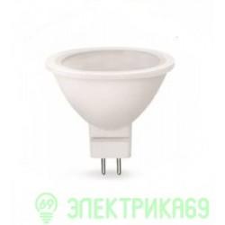 ASD MR16 GU5.3 220V 5.5W 4000К 4K 51x50 матов. пластик/алюм standard 1432