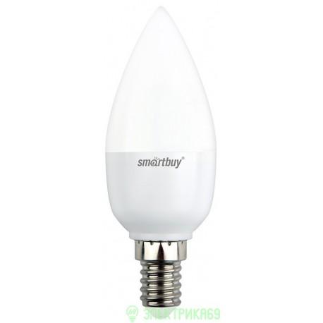 Smartbuy свеча C37 E14 5W(350lm) 3000K 2K матовая пластик SBL-C37-05-30K-E14