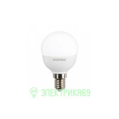 Smartbuy шар P45 E14 7W(550lm) 3000K 2K матовая пластик SBL-P45-07-30K-E14