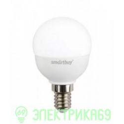 Smartbuy шар P45 E14 7W(600lm) 4000K 4K матовая пластик SBL-P45-07-40K-E14