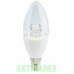 Ecola свеча прозрачная E14 7W 4000K 4K 109x37 пласт./алюм. Premium C4QV70ELC