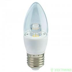 Ecola свеча прозрачная E27 7W 2700K 2K 103x37 пласт./алюм. Premium C7QW70ELC