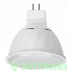 Ecola MR16 GU5.3 220V 10W 2800K 2K 51x50 матов. стекло Premium M2UW10ELC