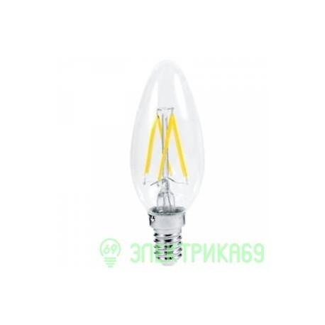 Ecola свеча E14 5W 2700K 2K 360° 96x37 филамент (нитевидная), прозр. N4CW50ELC