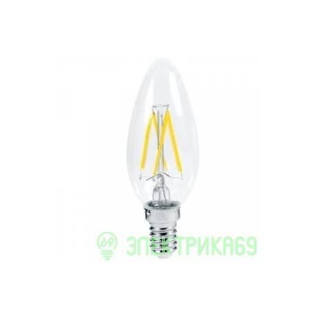 Ecola свеча E14 5W 2700K 2K 360° 96x37 филамент (нитевидная), прозр. Premium N4QW50ELC