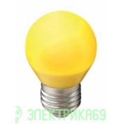 Ecola шар G45 E27 5W Желтый матовый 77x45 K7CY50ELB
