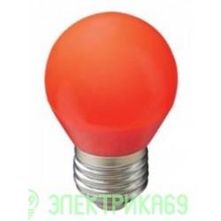 Ecola шар G45 E27 5W Красный матовый 77x45 K7CR50ELB