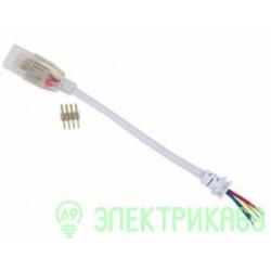 Ecola Кабель RGB 220V 16x8 150мм с муфтой и разъемом IP68 SCJM16ESB